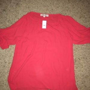 Red loft blouse with tags